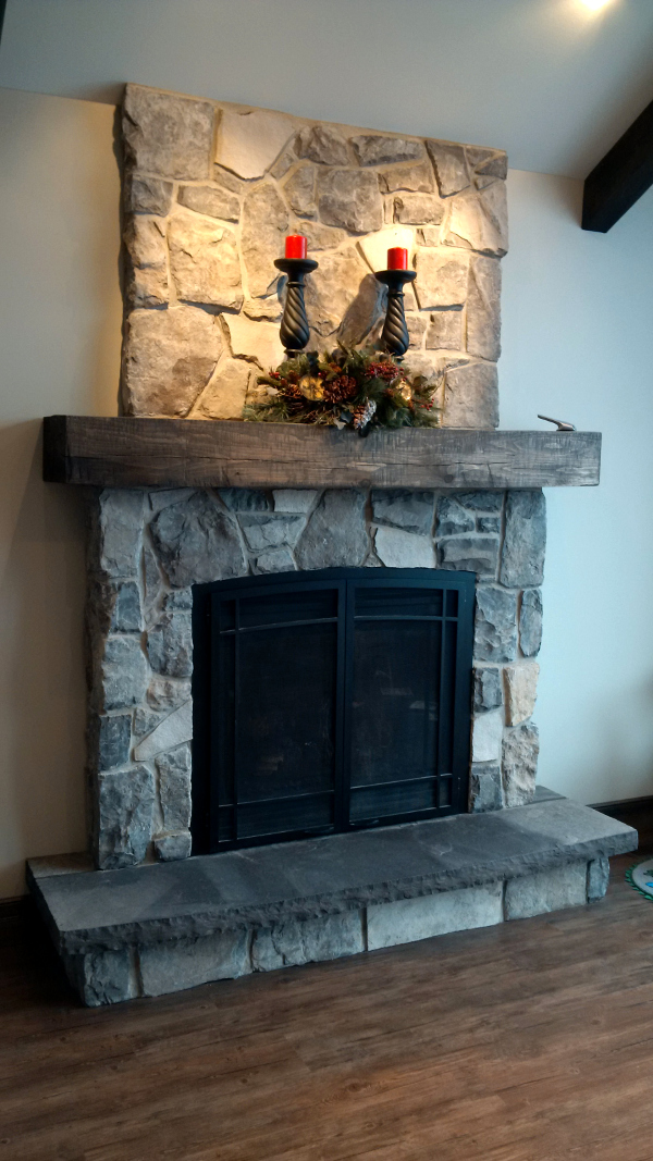 Legacy stone for Field stone fireplace