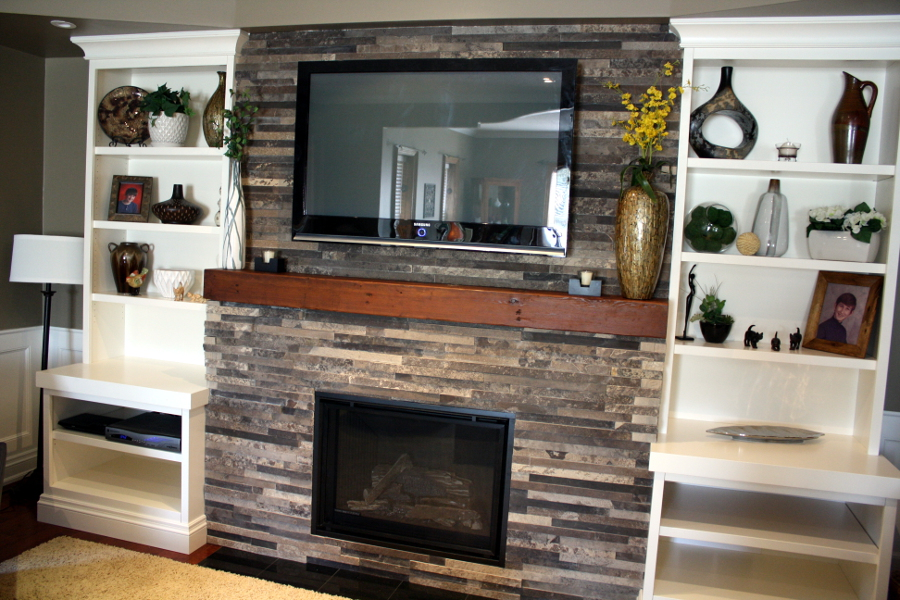 Make A Stone Fireplace Without Stone Faux Direct