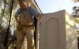 Jonathan fitting stone plinths
