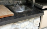 Ontairo limestone counter tops.