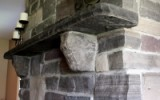 Stone corbels and hearth, stone lintel