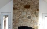 overgrout  fieldstone fireplace