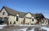 Natural rubble stone house